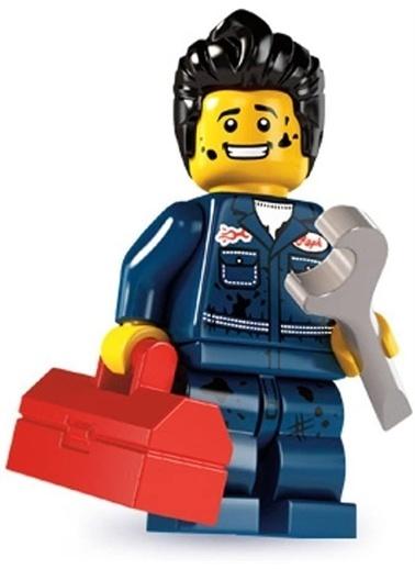 Lego Lego Minifigür - Seri 6 - 8827 - Mechanic Renkli